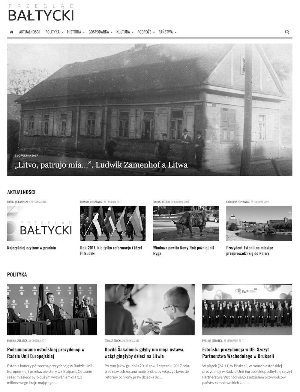 Rok 2017 w Przeglądzie Bałtyckim