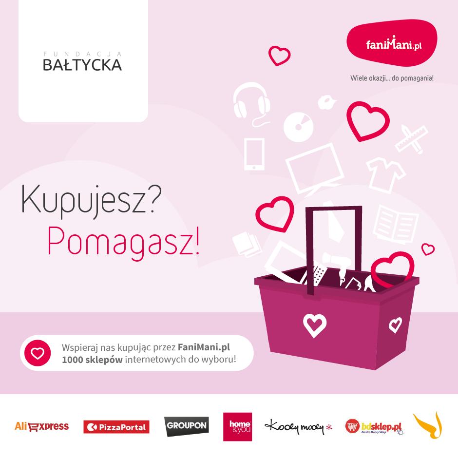 Wspieraj Fundację Bałtycką robiąc zakupy online